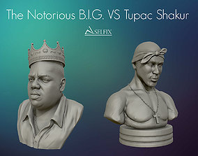Tupac Shakur and The Notorious BIG sculptures 3D