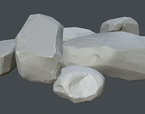 Gameready stones 3D asset