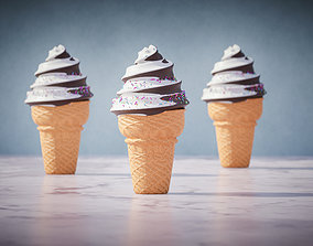 Choco Ice cream with nice isolation 3D model