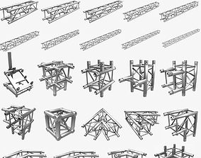3D model Square Truss Standard Collection 24 Modular 1