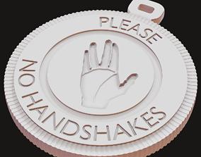 3D printable model No Handshakes icon Pendant