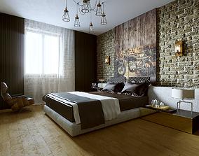 Bedroom LOFT lamp 3D model