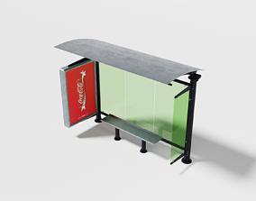 3D model Elegant bus stop