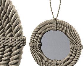 3D model Hanging Rope Mirror