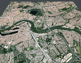 3D Cityscape Rotterdam Holland