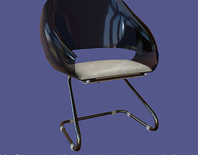Low poly 70s retro vintage chair 3D asset realtime