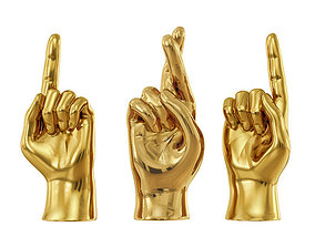 3D Sculpture Hands Sign 2