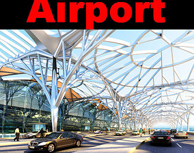 Airport With Glass Roof 3D