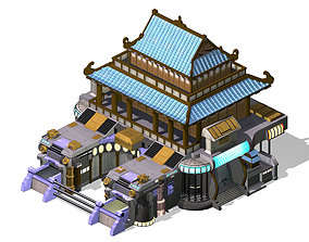 3D model Future City - Weapons Library 04