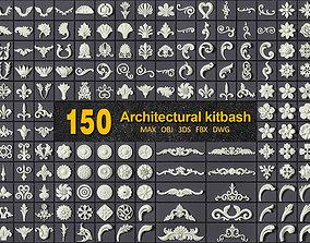 decorative 150 ARCHITECTURAL KITBASH - VOL 01 3D model