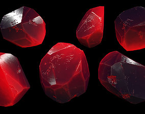 3D asset low-poly crystal