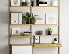 Svalnas wall-mounted workspace combination 3D model