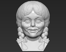 Annabelle bust 3D printing ready stl obj formats