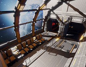 3D asset realtime Sci Fi Space Station Modular Kit