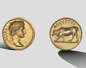 3D model realtime Roman Coin