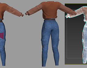 3D model jeans and a sweater
