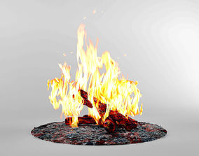 3D model Bonfire Fireplace