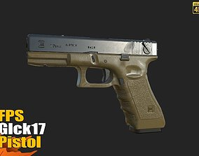 3D asset FPS Glck17 Pistol