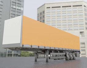 3D Semitrailer High-Poly Version
