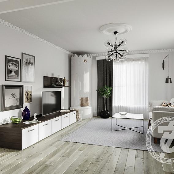 Scandinavian style in interior.