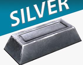 3D asset Silver Ingot