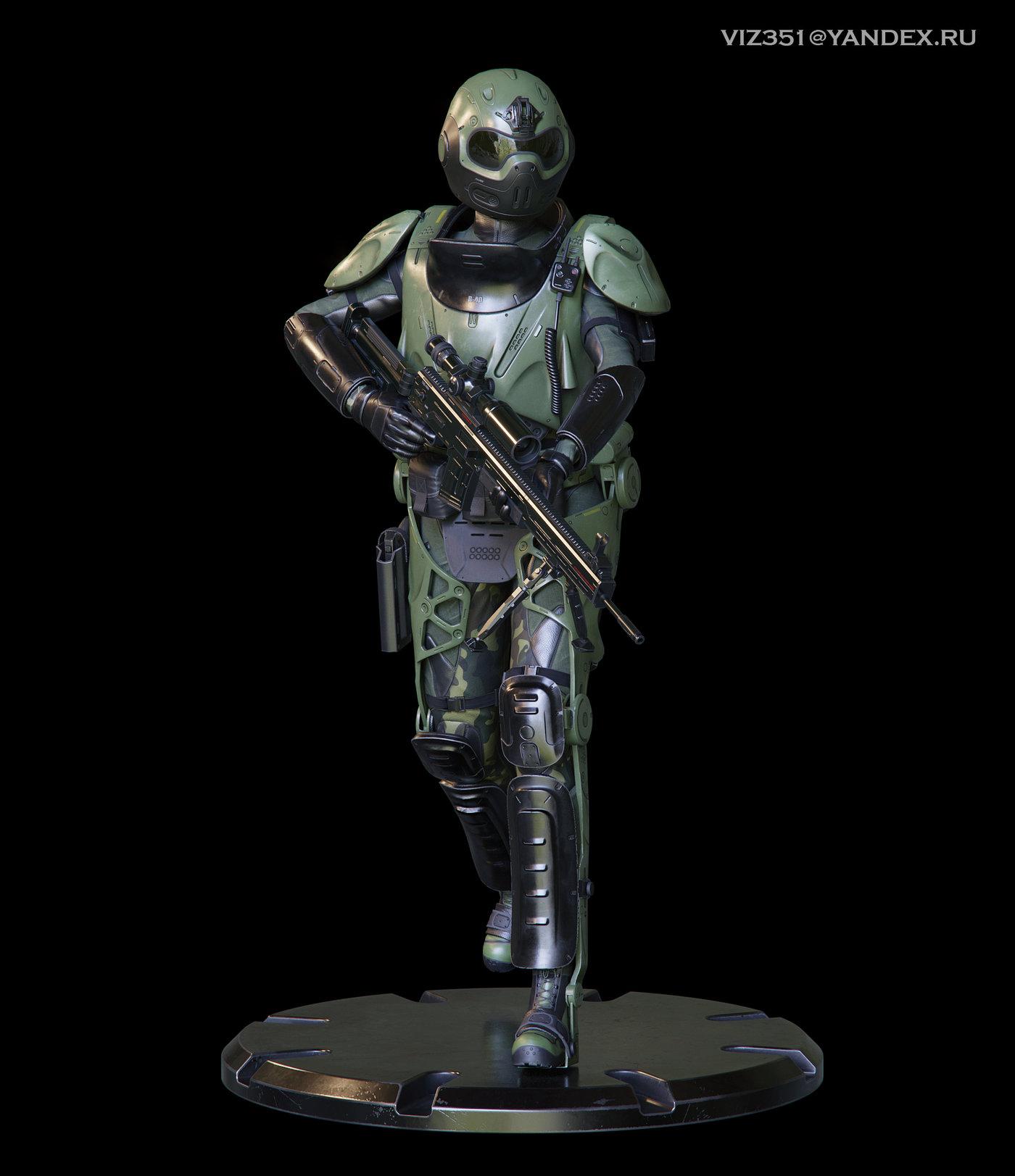 Military Exoskeleton R-40 Nemesis