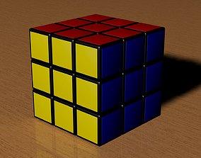 3D geometric-shape 3x3 Rubiks Cube