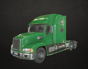 3D asset Semi Truck Tractor - Green