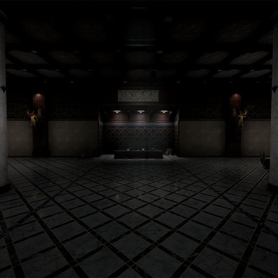 Lobby map for Internum, a Survival Horror