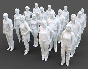 3D asset 16 Stylized Human Statues Pack V10
