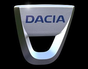 3D model Dacia emblem