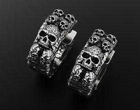Skull earrings 3D print model