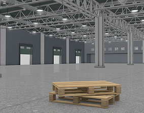 Warehouse Interior with Pallet 3D