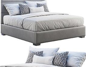 Custom modern platform bed 3D model