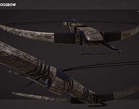 Medieval Crossbow 3D asset low-poly
