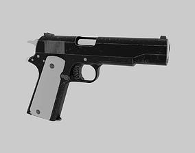 Colt 1911 pistol 3D asset low-poly