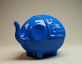 Elephant Coin Bank 3D Printing