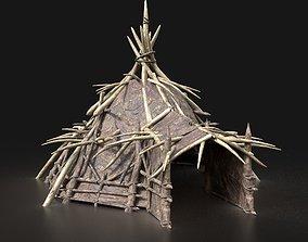 Orc Orcish Primal Fantasy Camp Tent House Hut 3D asset 1