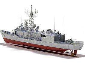 USS Fahrion FFG22 OHP class frigate 3D