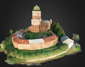3D model Vyborg Castle