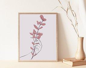 Plant Draw art wall decor print art 3D printable model 4
