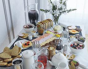 towel Serving table breakfast - 1 3D model