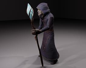 The magician - old fantasy alchemist wizard 3D model
