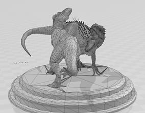3D print model trex vs indominus rex sculpture