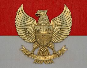 3D model Garuda Pancasila Logo
