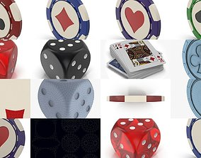 collection of gambling 3D model