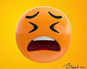 3D model Emoji Wailing
