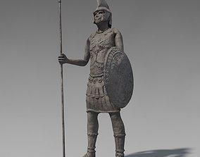 3D model Low poly ancient soldier sculpture