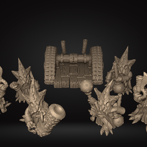UPDATED Goblin Squad Printable Miniatures Set