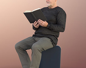3D model 11249 Phil - Old Man reading book sitting